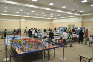 宮崎イオンホールで実施した「鉄道模型運転会」の様子