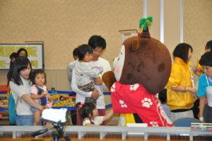 宮崎の人気キャラクター「宮崎犬」も遊びにきてくれました!