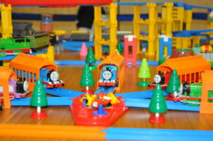 ジオラマには、子ども達に人気のトーマスがお目見え!